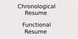 Chronological Resume Functional Resume